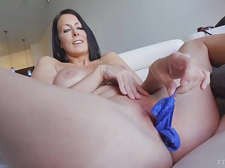 Murk MILF Reagan stuffs her panties in her pussy added to masturbates