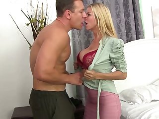 Good paramour Alexis Fawx gives a rim job and gets her cunt nailed