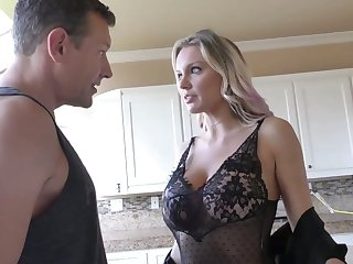 Super to the greatest MILFie cowgirl Kenzie Taylor rides fat sloppy cock wild