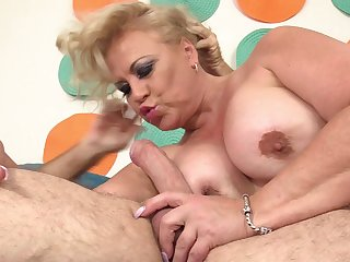 Fatty ass mature gets fucked more pretty hard modes