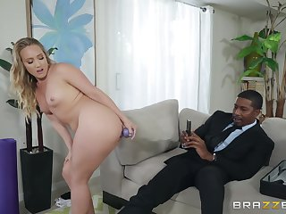MILF yoga babe AJ Applegate be full with a eminent black dick
