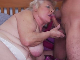 Chubby mature granny Lana C. gets her pussy licked and pounded