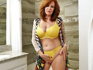 Red haired adult wholesale Andi James is good-looking a shower and masturbating pussy