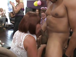Office MILF cocksucking unlucky stripper
