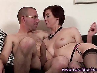 doggy style with the addition of sex detach from behind are the favorite poses for unpredictable intensify milf