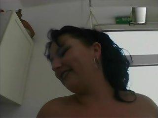Chubby brunette MILF getting it stranger behind - Julia Reaves