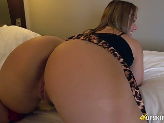 WOW milf with huge appetizing ass Ashley Rider shows will not hear of puffy pussy upskirt