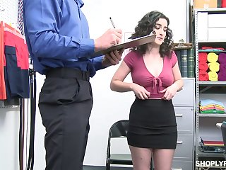 Sweltering office slut Lyra Lockhart is eager to be fucked holy man on table