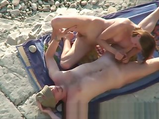 Couple Horny Sex At Nude Strand Hidden Camera