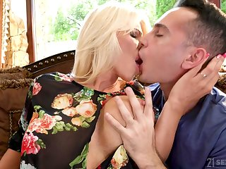 Bosomy alluring MILF with blond maddened Tiffany Rousso is fucked amply finally