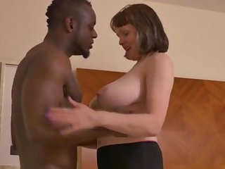 Big-Chested mature gal takes a pretentiously dark-hued jizz-shotgun