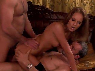 Sexy milf works yoke dicks like a true goddess of porn