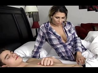 Naughty Stepmother Fucks Her Sleeping Step Son